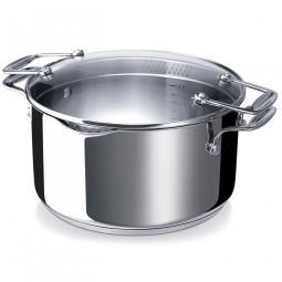 Кастрюля из нержавеющей стали 5 л 24 см Chef Pratique BEKA \ 13231244