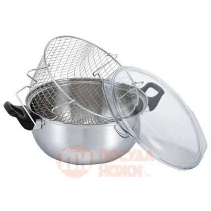 Кастрюля из нержавеющей стали-фритюрница 26 см Kitchen Aids BEKA \ 14302014