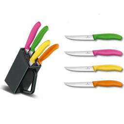 Набор кухонных ножей для стейков с подставкой 4 пр. Victorinox \ 6.7126.4