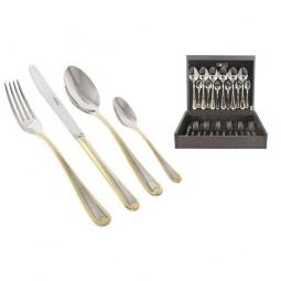 Набор столовых приборов Face 24 предмета Santorini Gold  \ F-SANG_24-AL