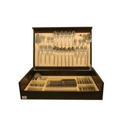 Набор столовых приборов на 12 персон Face 75 предметов Cosmos в деревянной коробке.  \ F-C_75-AL