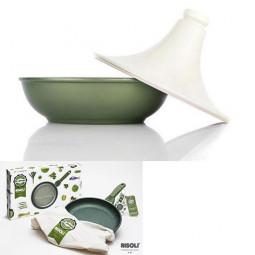 Тажин с керамической крышкой Risoli Dr Green 24см \ 00133DR/24GS