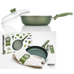 Сковорода глубокая со стеклянной крышкой Risoli Dr Green 28см \ 00105DR/28GS