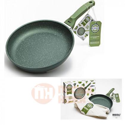 Сковорода с керамическим покрытием Risoli Dr Green 20см \ 00103DR/20GS