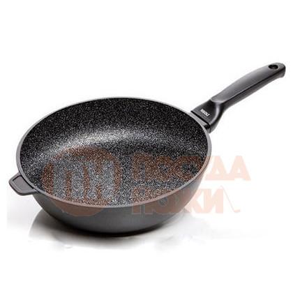 Сковорода глубокая Risoli HardStone Granit 28см \ 00104GR/28HS