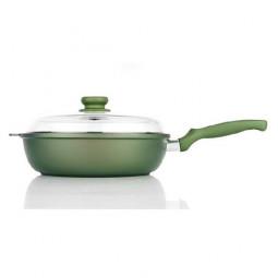 Сковорода с керамическим покрытием глубокая Risoli Dr Green Induction 28см \ 00105DRIN/28