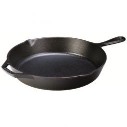 Сковорода чугунная круглая 26 см, черная LODGE \ L8SK3