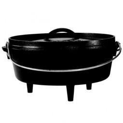 Жаровня чугунная овальная на ножках, 26 см./3,8 л., черная LODGE \ L10CO3