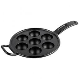Датская Сковорода чугунная - форма для кексов, 23 см, 7 ячеек, черная LODGE \ P7A3