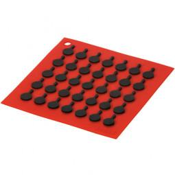Подставка квадратная с логотипом сковороды, 19 см. красная. LODGE \ AS7S41