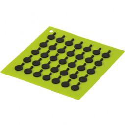 Подставка квадратная с логотипом сковороды, 19 см. зеленая. LODGE \ AS7S51