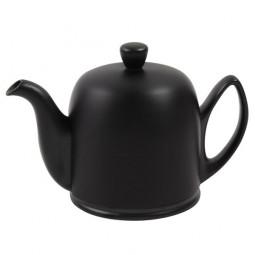 Чайник заварочный на 4 чашки с черной крышкой 600 мл фарфор Mat Black GUY DEGRENNE \ 216410