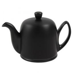Чайник заварочный на 6 чашек с черной крышкой 900 мл фарфор Mat Black GUY DEGRENNE \ 216414