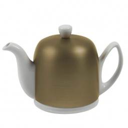 Чайник заварочный на 6 чашек с крышкой бронзового цвета 900 мл фарфор White GUY DEGRENNE \ 216415