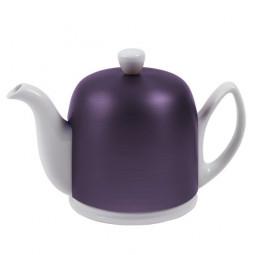 Чайник заварочный на 6 чашек с крышкой аметистового цвета 900 мл фарфор White GUY DEGRENNE \ 216417
