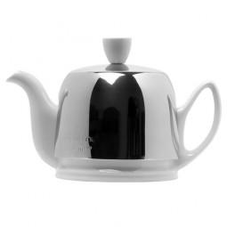 Чайник заварочный с ситечком на 2 чашки нерж. сталь, фарфор White GUY DEGRENNE \ 211987