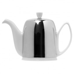 Чайник заварочный с ситечком на 6 чашек нерж. сталь, фарфор White GUY DEGRENNE \ 211989