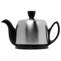 Чайник заварочный с ситечком на 2 чашки нерж. сталь, фарфор Mat Black GUY DEGRENNE \ 211991