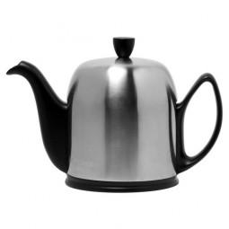 Чайник заварочный с ситечком на 6 чашек нерж. сталь, фарфор Mat Black GUY DEGRENNE \ 211993