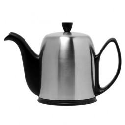 Чайник заварочный с ситечком на 8 чашек черный нерж. сталь, фарфор Mat Black GUY DEGRENNE \ 211994