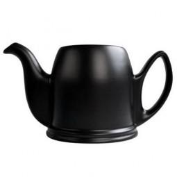 Чайник заварочный на 8 чашек без крышки 1500 мл фарфор черный Mat Black GUY DEGRENNE \ 150447