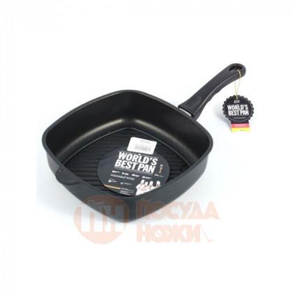 Сковорода-гриль глубокая квадратная AMT Gastroguss 26x26 см.\ AMT 267GFIX