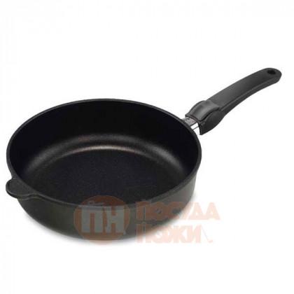 Сковорода глубокая со съёмной ручкой индукционная AMT Gastroguss 20 см.\ AMT I-720