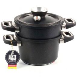 Набор для приготовления на пару для индукционной плиты AMT Gastroguss 20 см.\ AMT I-1220S