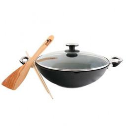 Сковорода WOK BAF GIGANT  Newline   INDUCTION  со стеклянной крышкой 32см \ 5001 38 32 1-I