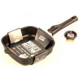 Сковорода-гриль  квадратная со съёмной ручкой индукционная AMT Gastroguss 20x20 см.\ AMT I-205