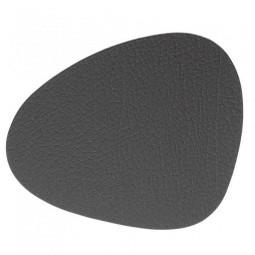 Подставка под стаканы из натуральной кожи 11*13 см LindDNA BULL фигурная цвет коричневый \ LD-9853