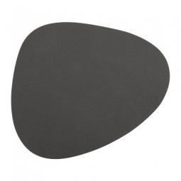 Подставка под стаканы из натуральной кожи 11*13 см LindDNA NUPO фигурная цвет серый \ LD-981181