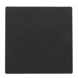 Подставка под стаканы из натуральной кожи 10*10 см LindDNA NUPO квадратная цвет черный \ LD-981801