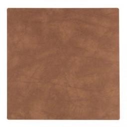 Подставка под стаканы из натуральной кожи 10*10 см LindDNA NUPO квадратная цвет коричневый \ LD-982497