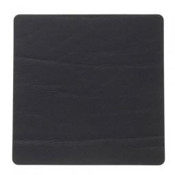 Подставка под стаканы из натуральной кожи 10*10 см LindDNA BUFFALO квадратная цвет черный \ LD-98887
