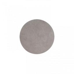Подставка под стаканы из натуральной кожи 10 см LindDNA HIPPO круглый цвет серый \ LD-98862