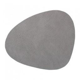 Подставка под стаканы из натуральной кожи 11*13 см LindDNA HIPPO фигурная цвет серый \ LD-98863