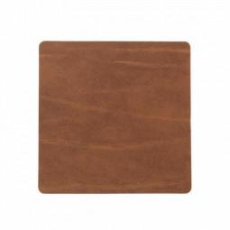 Подставка под стаканы из натуральной кожи 10*10 см LindDNA BUFFALO квадратная цвет коричневый \ LD-98889