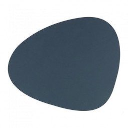 Подставка под стаканы из натуральной кожи 11*13 см LindDNA NUPO фигурная цвет темно-синий \ LD-982494