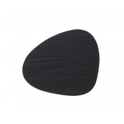 Подставка под стаканы из натуральной кожи 11*13 см LindDNA BUFFALO фигурная цвет черный \ LD-98884