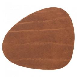 Подставка под стаканы из натуральной кожи 11*13 см LindDNA BUFFALO фигурная цвет коричневый \ LD-98886