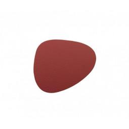Подставка под стаканы из натуральной кожи 11*13 см LindDNA BULL фигурная цвет красный \ LD-9855