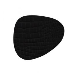Подставка под стаканы из натуральной кожи 11*13 см LindDNA CROCO фигурная цвет черный \ LD-9884