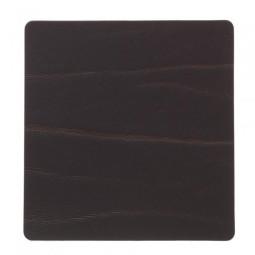 Подставка под стаканы LIND DNA квадратная 10x10 см толщина 2 мм BUFFALO brown \ 98888