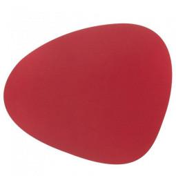 Сервировочная салфетка из натуральной кожи 37*44 см LindDNA BULL фигурная цвет красный \ LD-9874