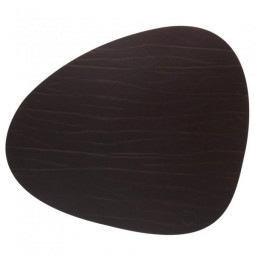 Сервировочная салфетка из натуральной кожи 37*44 см LindDNA BUFFALO фигурная цвет коричневый \ LD-98891