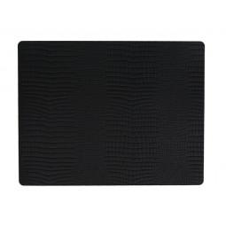 Подстановочная салфетка LIND DNA прямоугольная 35x45 см толщина 2 мм CROCO black \ 98326