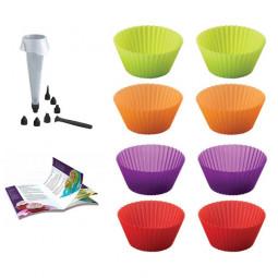 Набор из 6-ти силиконовых форм для кексов и аксессуаров Mastrad \ F44060
