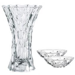 Хрустальный набор из вазы для цветов и 2-х подсвечников Sphere Nachtmann \ 99676