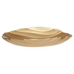 Хрустальный салатник 43 см золотой Sahara Nachtmann \ 85218